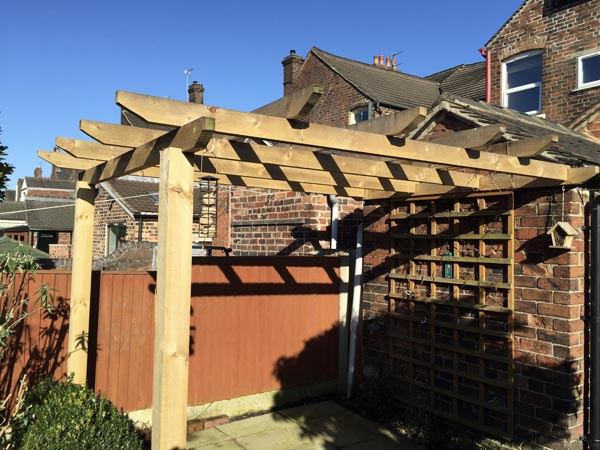 Pergolas in Crewe, Cheshire