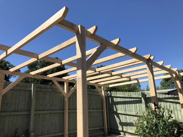 Oak Pergolas in Stoke
