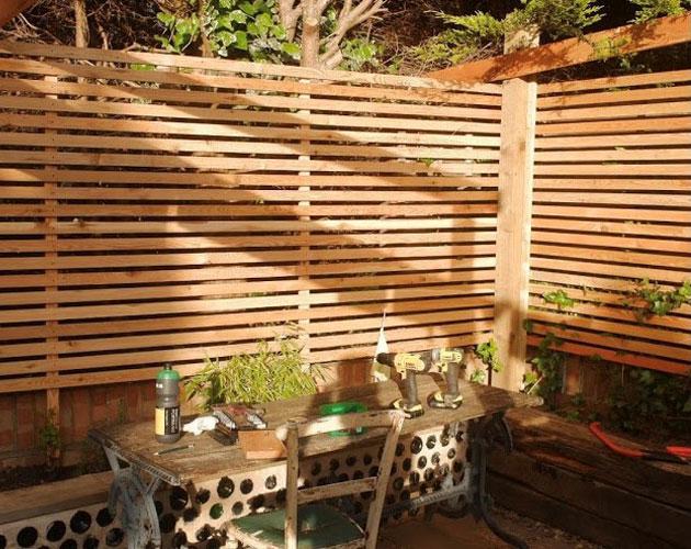 Larch Slatted Fence Panels Nantwich
